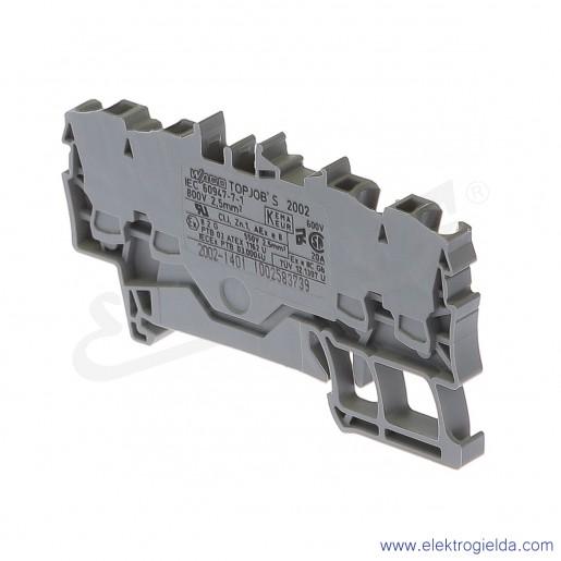 Złączka sprężynowa  2002-1401 2,5mm2 4-przewodowa,  szara TopJob S