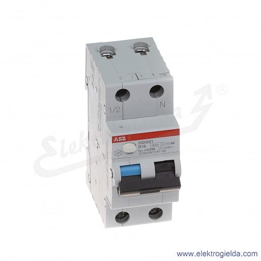 Wyłącznik różnicowo-nadprądowy DSH201 B16 AC30 2P 16A B 0,03A typ AC