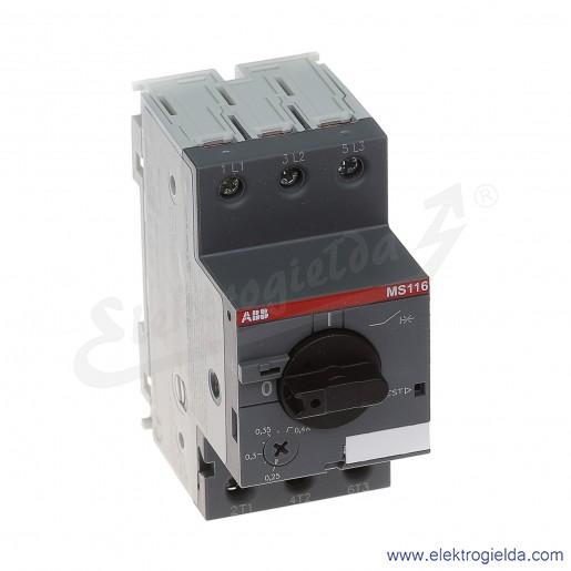 Wyłącznik silnikowy MS116-0.4 Termomagnetyczny 0.25-0.4A 3P 0.09kW