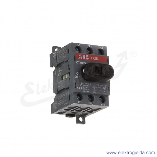 Rozłącznik izolacyjny OT40F3 40A 3P napęd z przodu, bez wałka i rączki