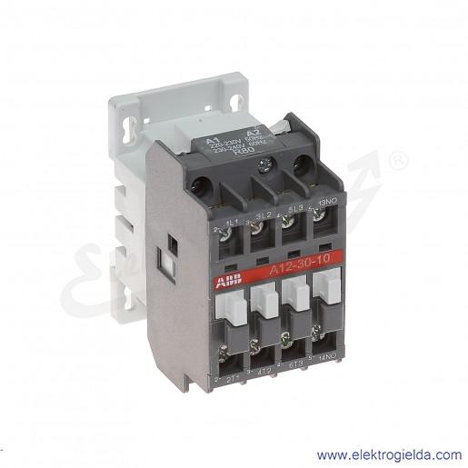 Stycznik A12-30-10 230V AC 50/60 HZ, 1NO, 5.5KW/400V AC-3, 27A AC-1, 3-polowy
