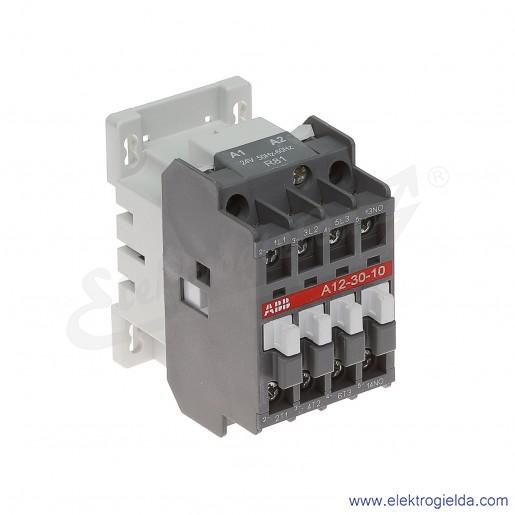 Stycznik A12-30-10 24V AC 50/60 HZ, 1NO, 5.5KW/400V AC-3, 27A AC-1, 3-polowy