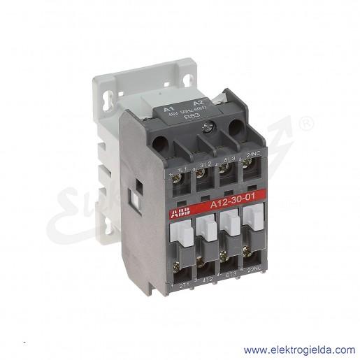 Stycznik A12-30-01 48V AC 50/60 HZ, 1NC, 5.5KW/400V AC-3, 27A AC-1, 3-polowy