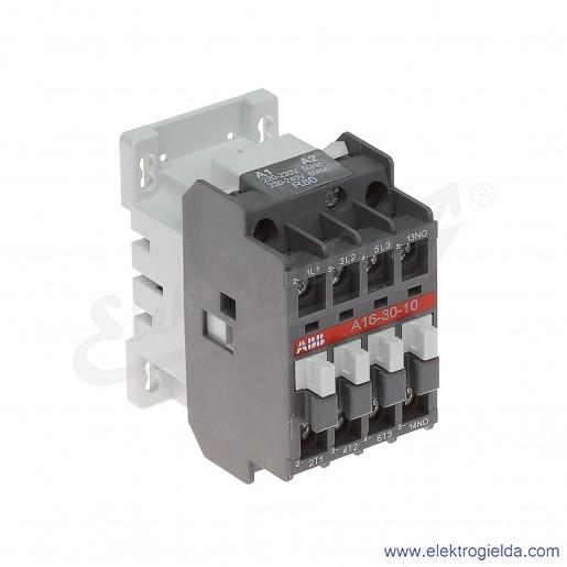 Stycznik A16-30-10 230V AC 50/60 HZ, 1NO, 7.5KW/400V AC-3, 30A AC-1, 3-polowy