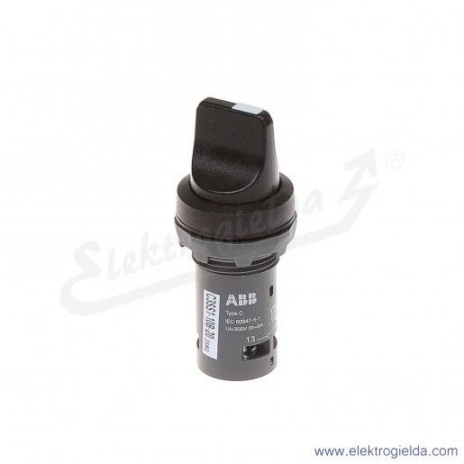 Przełącznik C3SS1-10B-20 1-0-2 czarny 2NO pokrętny piórkowy stabilny