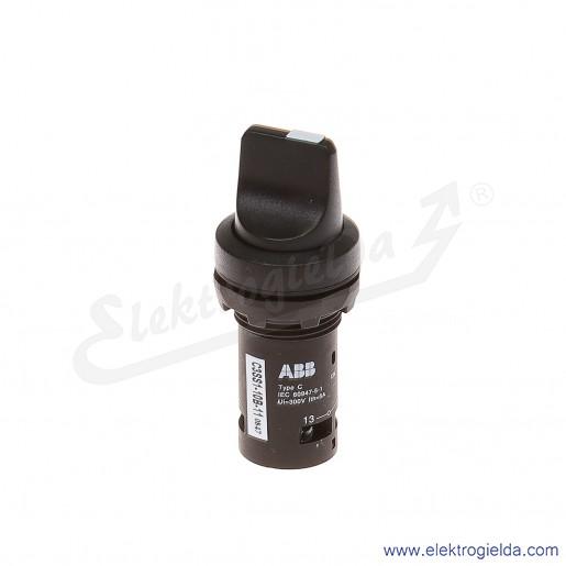 Przełącznik C3SS1-10B-11 1-0-2 czarny 1NO+1NC pokrętny piórkowy stabilny