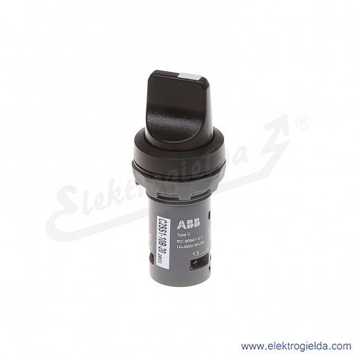 Przełącznik C2SS1-10B-20 0-1 czarny 2NO pokrętny piórkowy stabilny