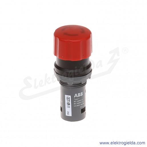 Przycisk CE3T-10R-11 grzybkowy STOP bezpieczeństwa czerwony 1NO+1NC odryglowywany przez obrót