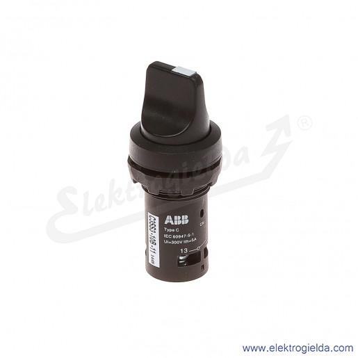 Przełącznik C3SS3-10B-11 1-0 2 czarny 1NO+1NC pokrętny piórkowy stabilny-0-samopowrotny