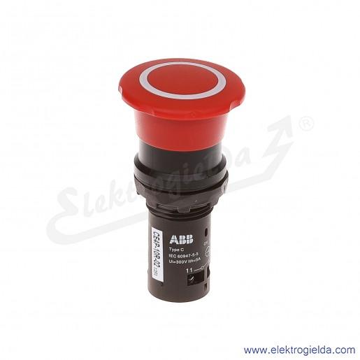 Przycisk CE4P-10R-02 grzybkowy STOP bezpieczeństwa czerwony 2NC odryglowywany przez pociągnięcie