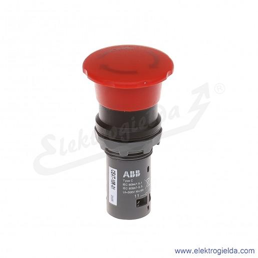 Przycisk CE4T-10R-01 grzybkowy STOP bezpieczeństwa czerwony 1NC odryglowywany przez obrót