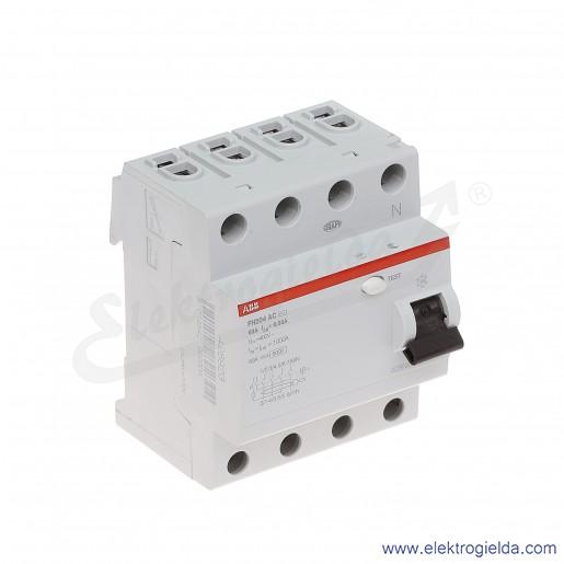 Wyłącznik różnicowoprądowy FH204 AC-63/0,03 4P 63A 0,03A typ AC