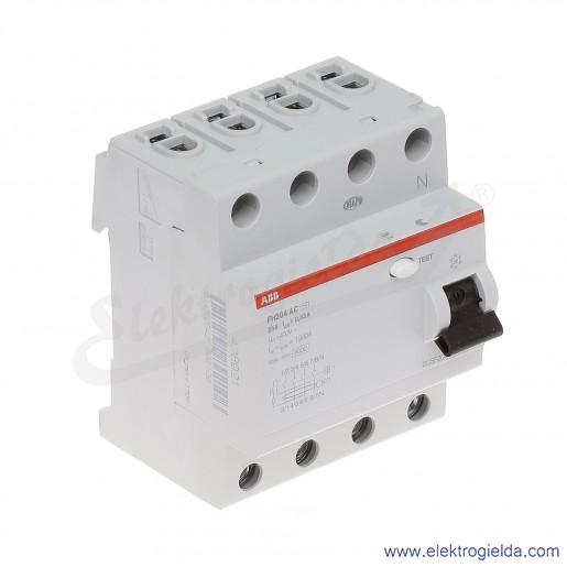 Wyłącznik różnicowoprądowy FH204 AC-25/0,03 4P 25A 0,03A typ AC