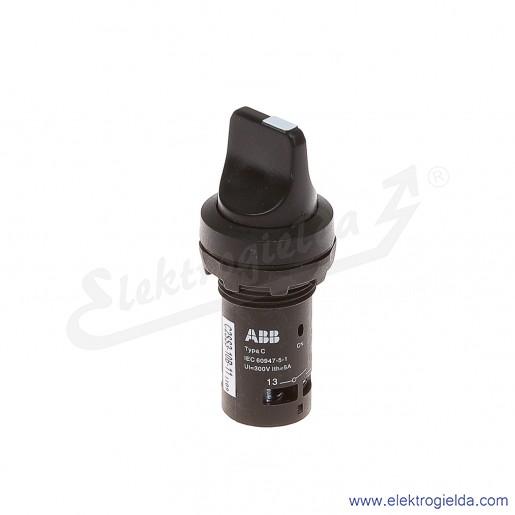 Przełącznik C2SS3-10B-11 0-1 czarny 1NO+1NC pokrętny piórkowy samopowrotny