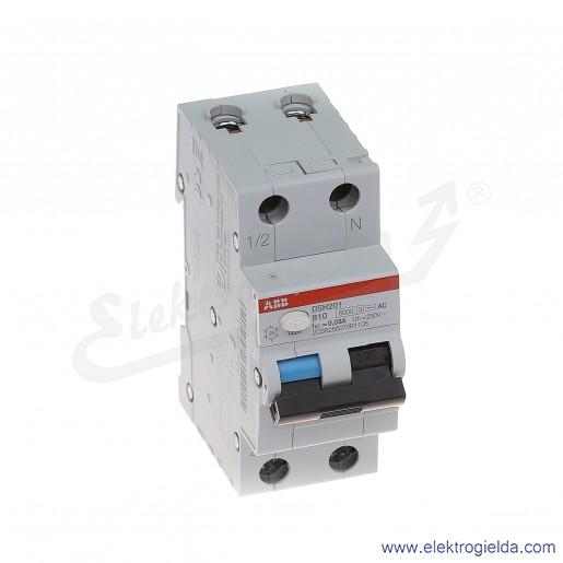 Wyłącznik różnicowo-nadprądowy DSH201 B10 AC30 2P 10A B 0,03A typ AC