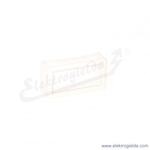 Gumowy kapturek ochronny 080CPDT podnoszący stopień ochrony przeźroczysty, kwadratowy