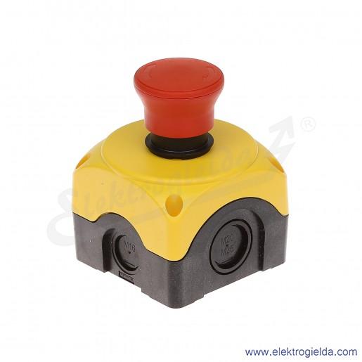 Kaseta LPZP1B502PL żółta z przyciskiem DRc LPCB6344