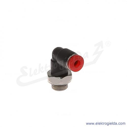 Złączka kątowa G1/8 FI-4mm obrotowa Pneufit C