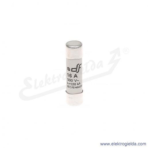 Wkładka bezpiecznikowa 10X38 16A gG 500V