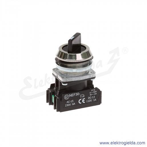 Przełącznik piórkowy NEF30 TPasXY 0-1 czarny stabilny 30mm 1NO+1NC