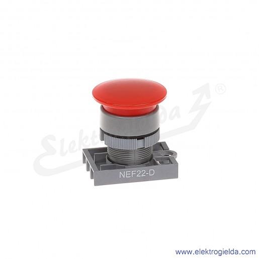 Napęd przycisku NEF22 Dc czerwony dłoniowy impulsowy