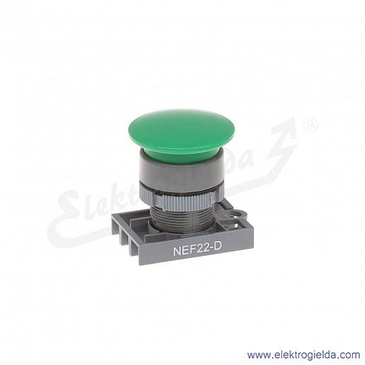 Napęd przycisku NEF22 Dz zielony dłoniowy impulsowy