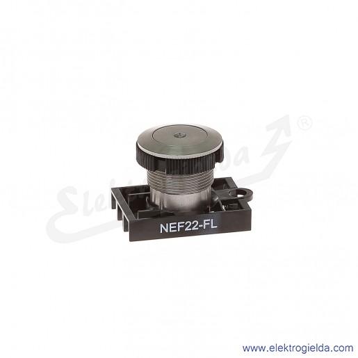 Napęd przycisku NEF22 FL metalowy kryty wandaloodporny podświetlany
