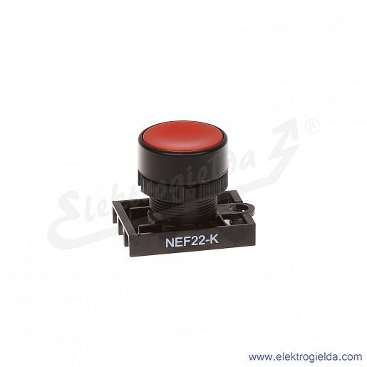 Napęd przycisku NEF22 Kc czerwony kryty samopowrotny