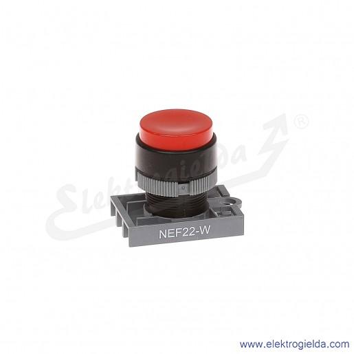 Napęd przycisku NEF22 Wc czerwony wystający samopowrotny