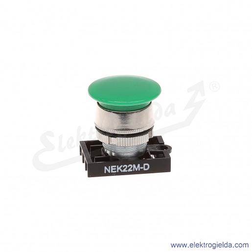 Napęd przycisku NEK22M-Dz zielony dłoniowy metalowy impulsowy