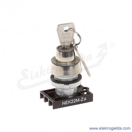 Napęd kluczykowy NEK22M-Za 0-1 metalowy stacyjka stabilny