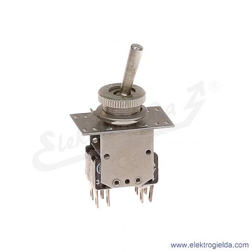 Łącznik miniaturowy 83-545-33s z napędem ręcznym 0-1 2Z+2R srebrzony
