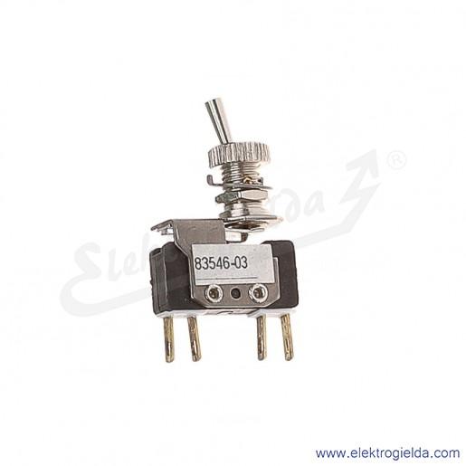 Łącznik miniaturowy 83-546-03 z napędem ręcznym 0-1 1Z+1R złocony