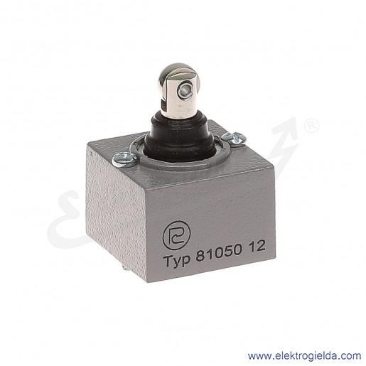 Głowica łącznika krańcowego 81 050-1.2 metalowa z popychaczem pionowym i rolką