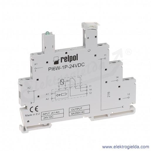 Gniazdo wtykowe PI6W-1P-24VDC do przekaźnika RM699BV