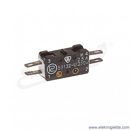 Łącznik krańcowy miniaturowy 83-133s z trzpieniem 1Z+1R srebrzony