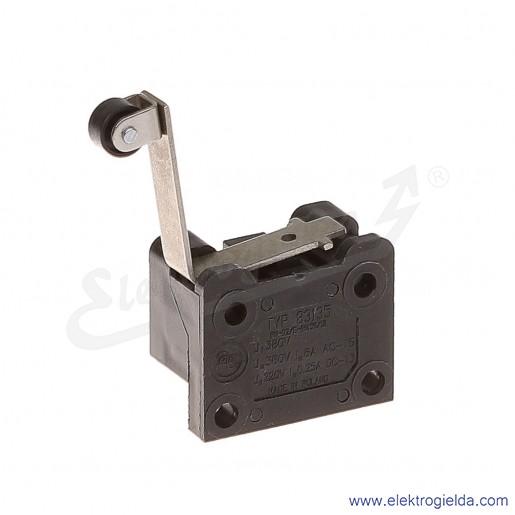 Łącznik krańcowy 83-135 58G miniaturowy z dźwignią zagiętą i rolką 1Z+1R