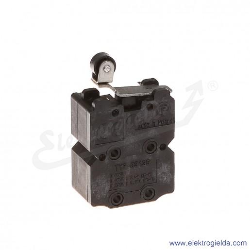 Łącznik krańcowy 83-136 58H miniaturowy z średnią dźwignią i rolką 2Z+2R