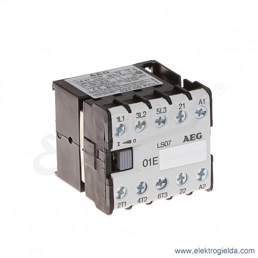 Stycznik LS 07.01 230V AC 50/60 HZ, 1NC, 3KW/400V AC-3, 16A AC-1, 3-polowy