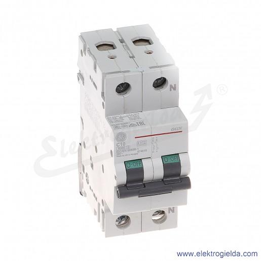 Wyłącznik nadprądowy G61NC10 1P+N AC 6kA
