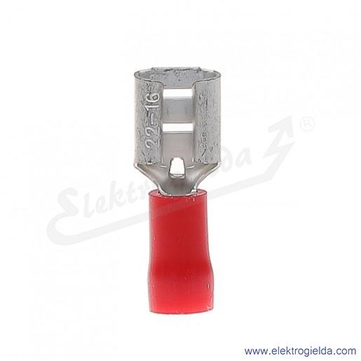 Wsuwka izolowana NI 6,3-1/0,8 PCV z tuleją izolacyjną