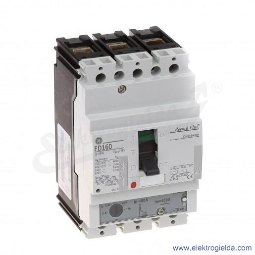 Wyłącznik mocy FDE36TE080GD 80A 3P 25kA