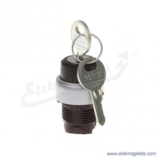 Przełącznik główka LPC S320 klucz 0-1 bez samopowrotu , wyciągany w 0
