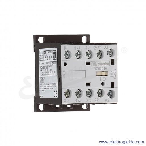 Stycznik BG0901A230 230VAC Ith 20A AC3/400V  4KW, 1NC