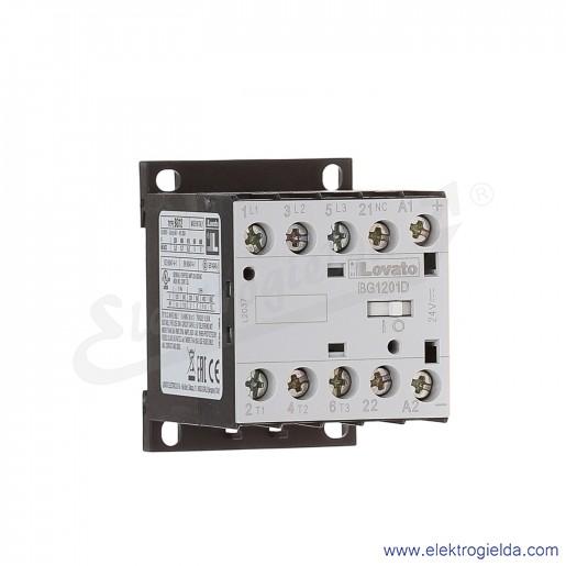 Stycznik BG1201D024 24VDC Ith 20A AC3/400V  5,7KW, 1NC