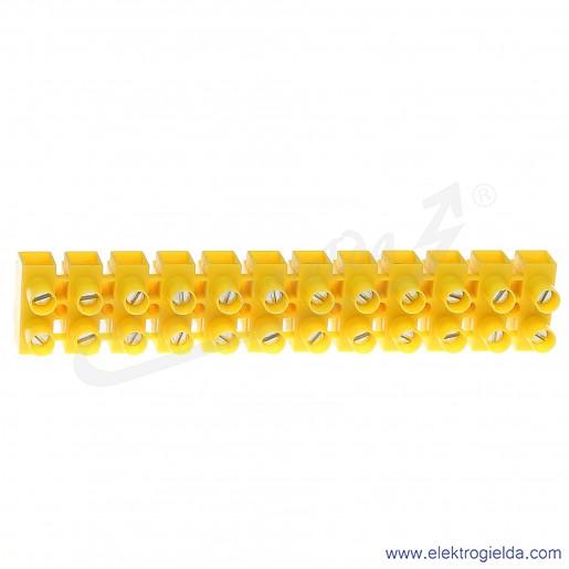 Złączka gwintowa TLZ 10 N 12-torowa z podkładką zapobiegającą przecinaniu przewodów.