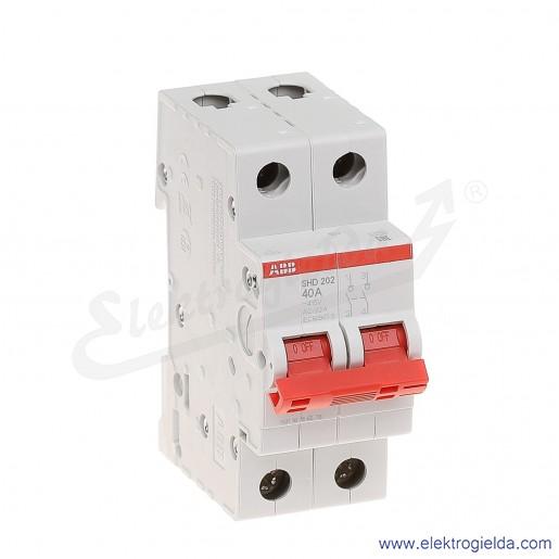 Rozłącznik główny SHD202/40 2P 40A