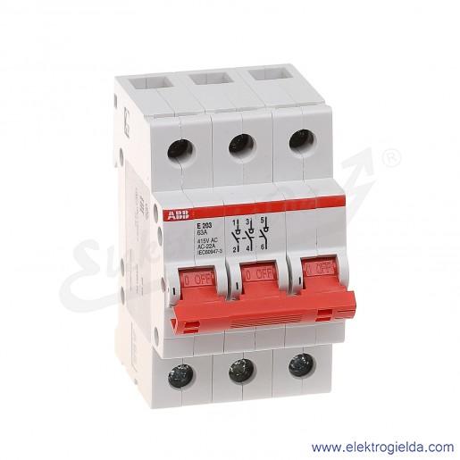Rozłącznik główny E203/63A rd 3P 63A