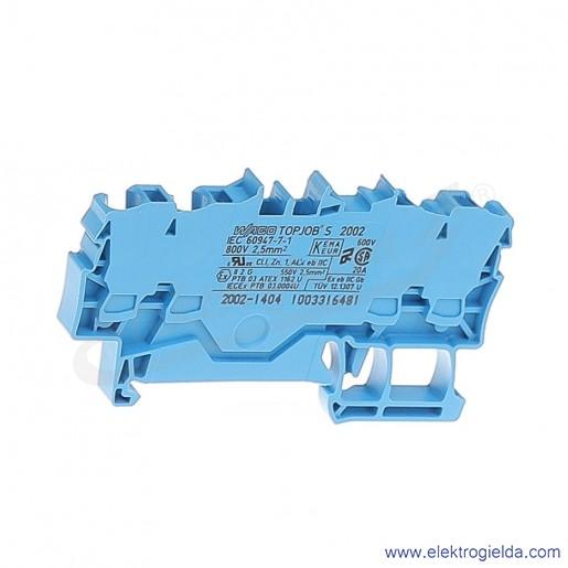 Złączka sprężynowa  2002-1404 2,5mm2 4-przewodowa, niebieska TopJob S