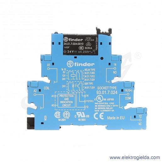 Przekaźnikowy moduł sprzęgający 38.51.7.024.0050 1P 24V DC elektromechaniczny